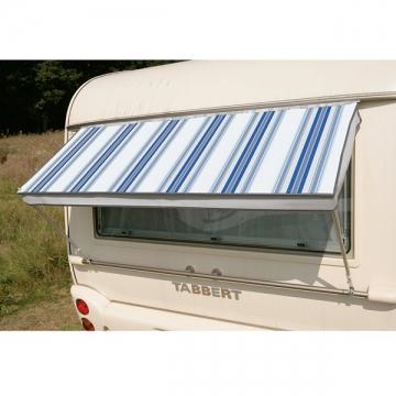 """Okenní markýza """"Wachau"""" - modře pruhovaná"""