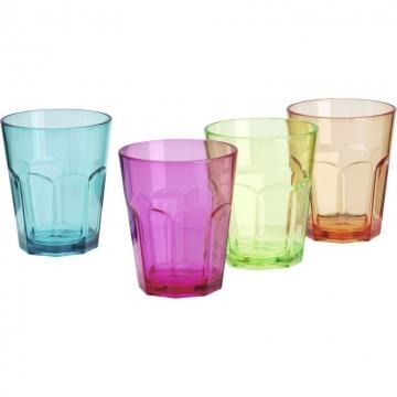 Sada barevných skleniček