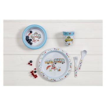 Dětská jídelní sada Happy Holiday 5 ks
