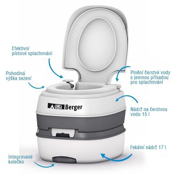 Mobilní WC Berger Deluxe