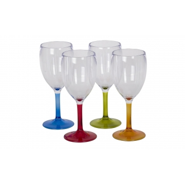 Barevné pohárky na víno